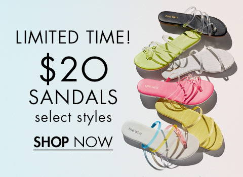 $20 Sandals Select Styles