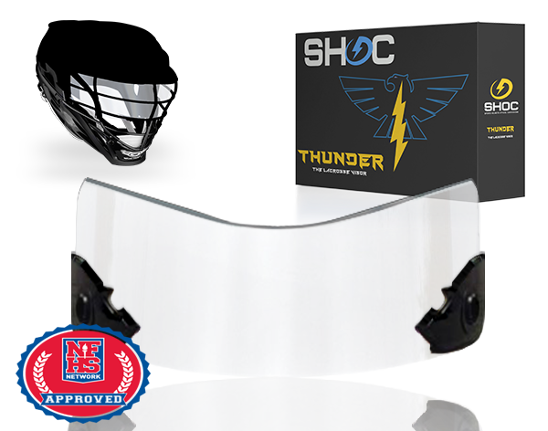 Lacrosse Visor by shoc - clear
