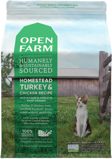 Homestead Turkey & Chicken Dry Cat Food