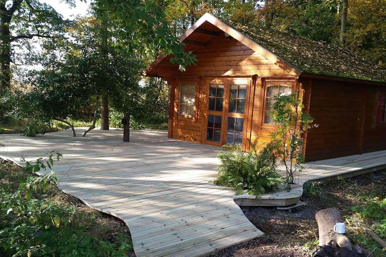 Woodland Cabin with Gripsure Premier Decking