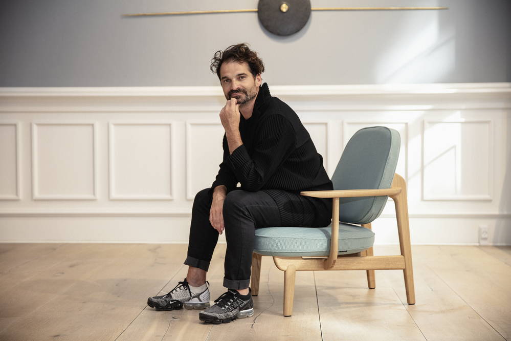 Fritz Hansen JH97 Lounge Chair with Jaime Hayon design portrait
