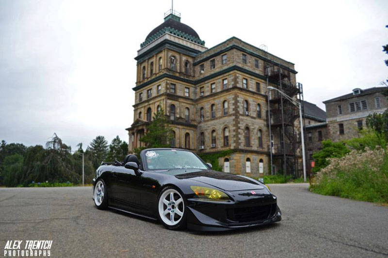 Mazda Miata with Yellow Lamin-x headlight tint film covers
