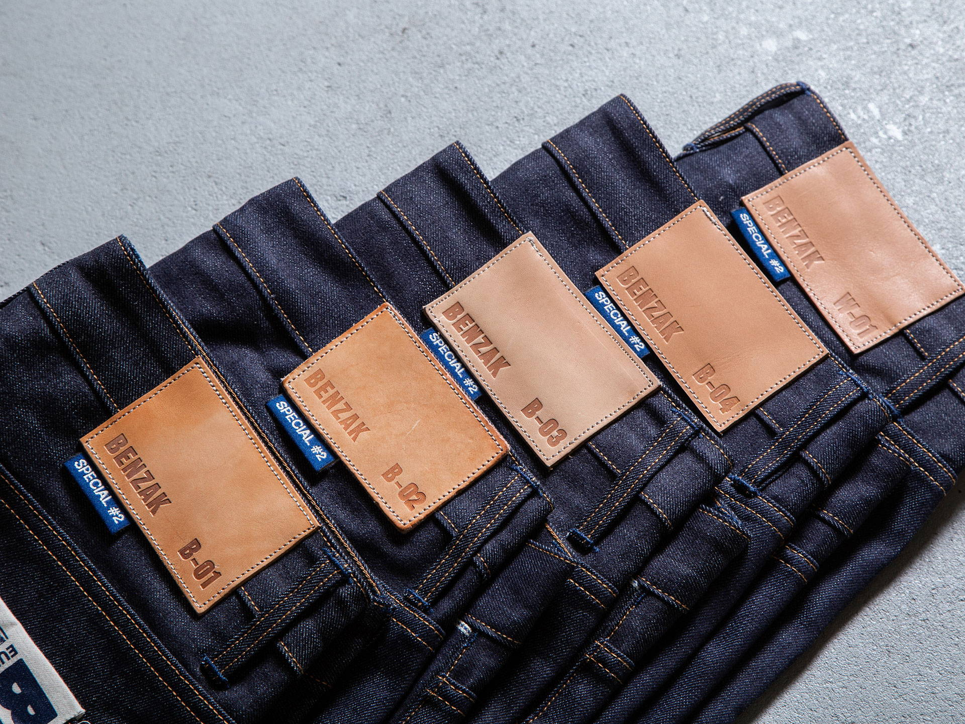 special #2 15 oz. vintage indigo selvedge denim proprietary fabric made in Italy Candiani