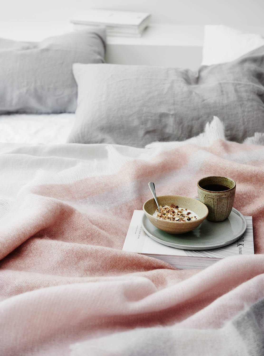 Mohair Champagne Throw St Albans Breakfast in Bed