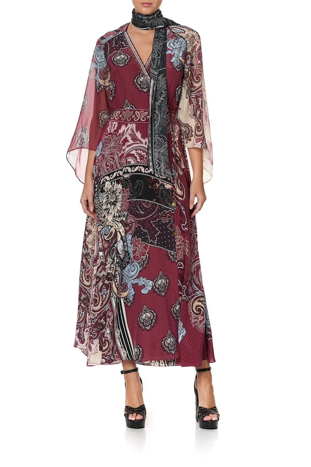 SPELL PRINCESS TALE OF A FIREBIRD WRAP DRESS WITH TIE