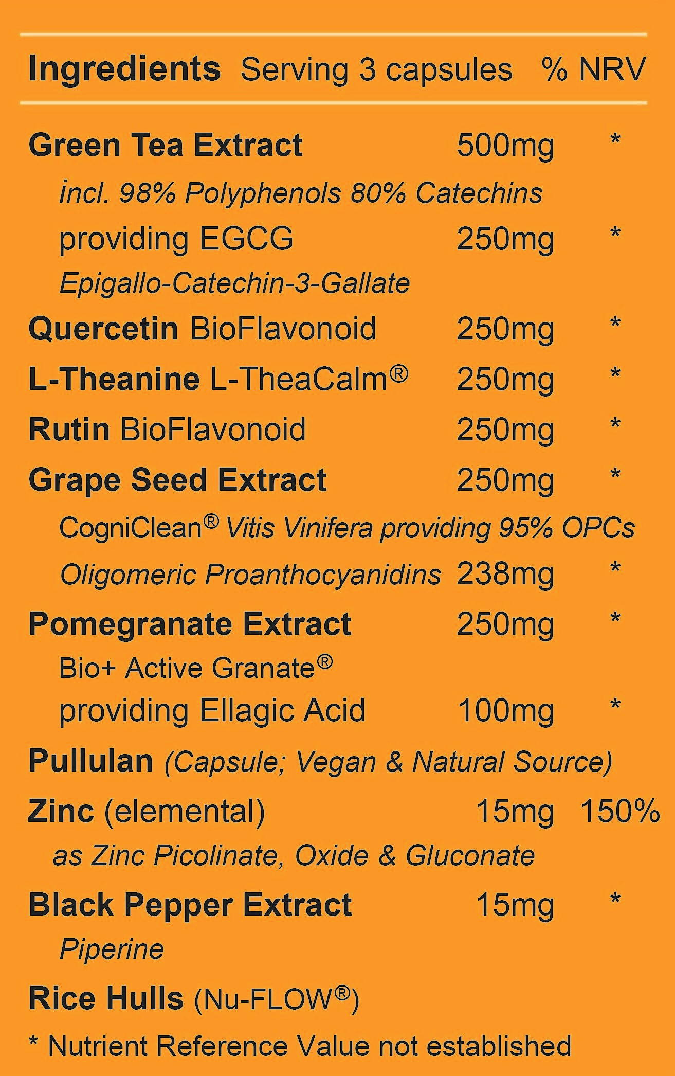 Healthy Cell Cycle 5 Ingredients