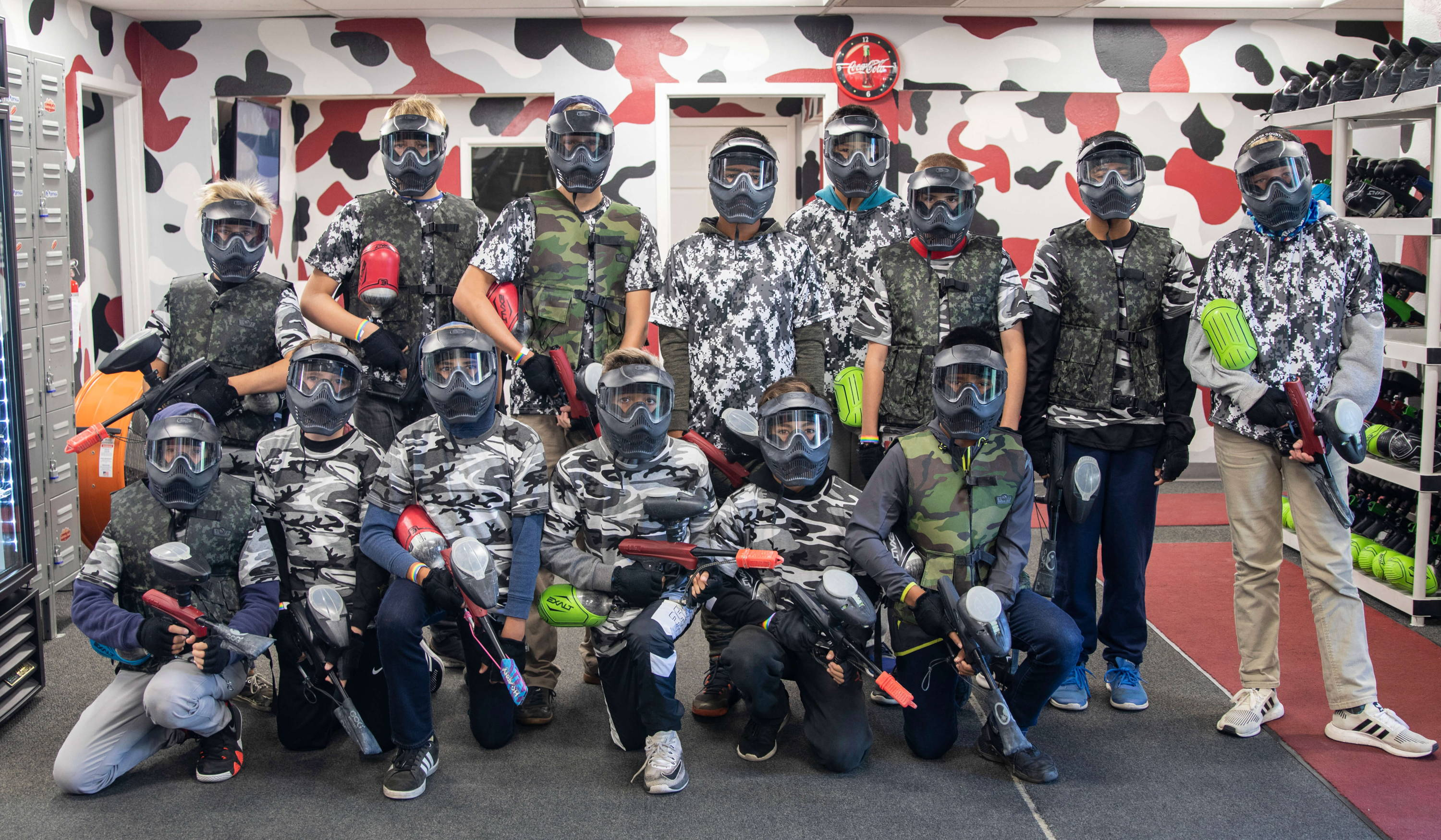 Birthday Party San Antonio Mezzanine Diego Paintball Park Group Photo