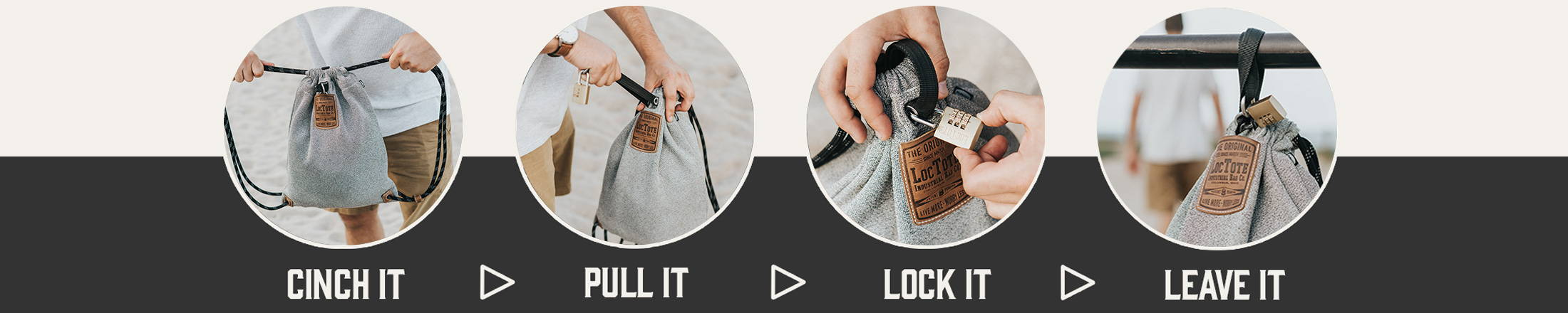 How to Lock LOCTOTE Bag Anti theft lockable backpack toughest