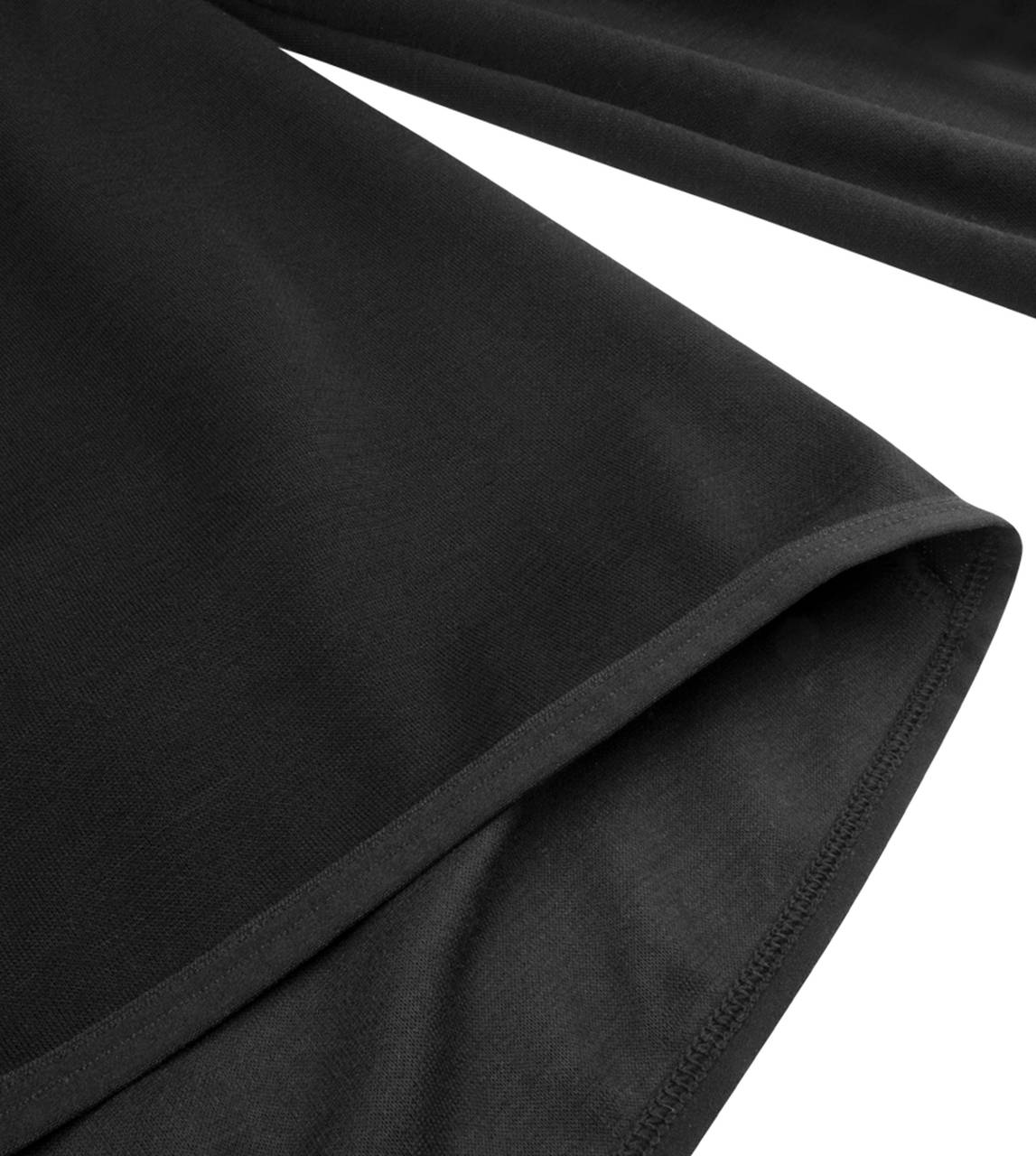 Merino wool base layer elastic hem detail