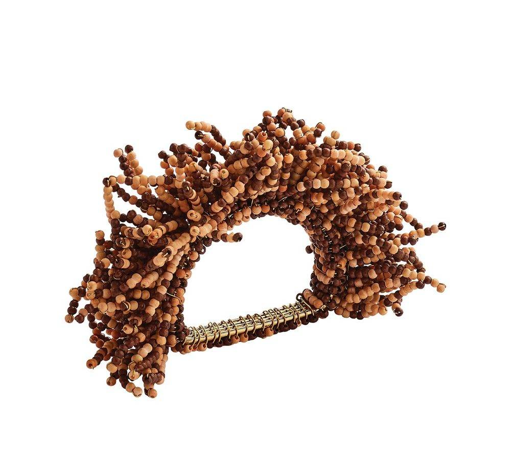 CARNIVAL NAPKIN RING IN BROWN