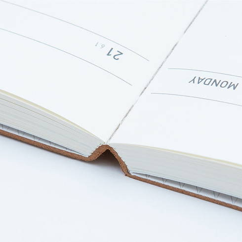 Opens flat - Ardium 2020 Soft weekly dated diary planner