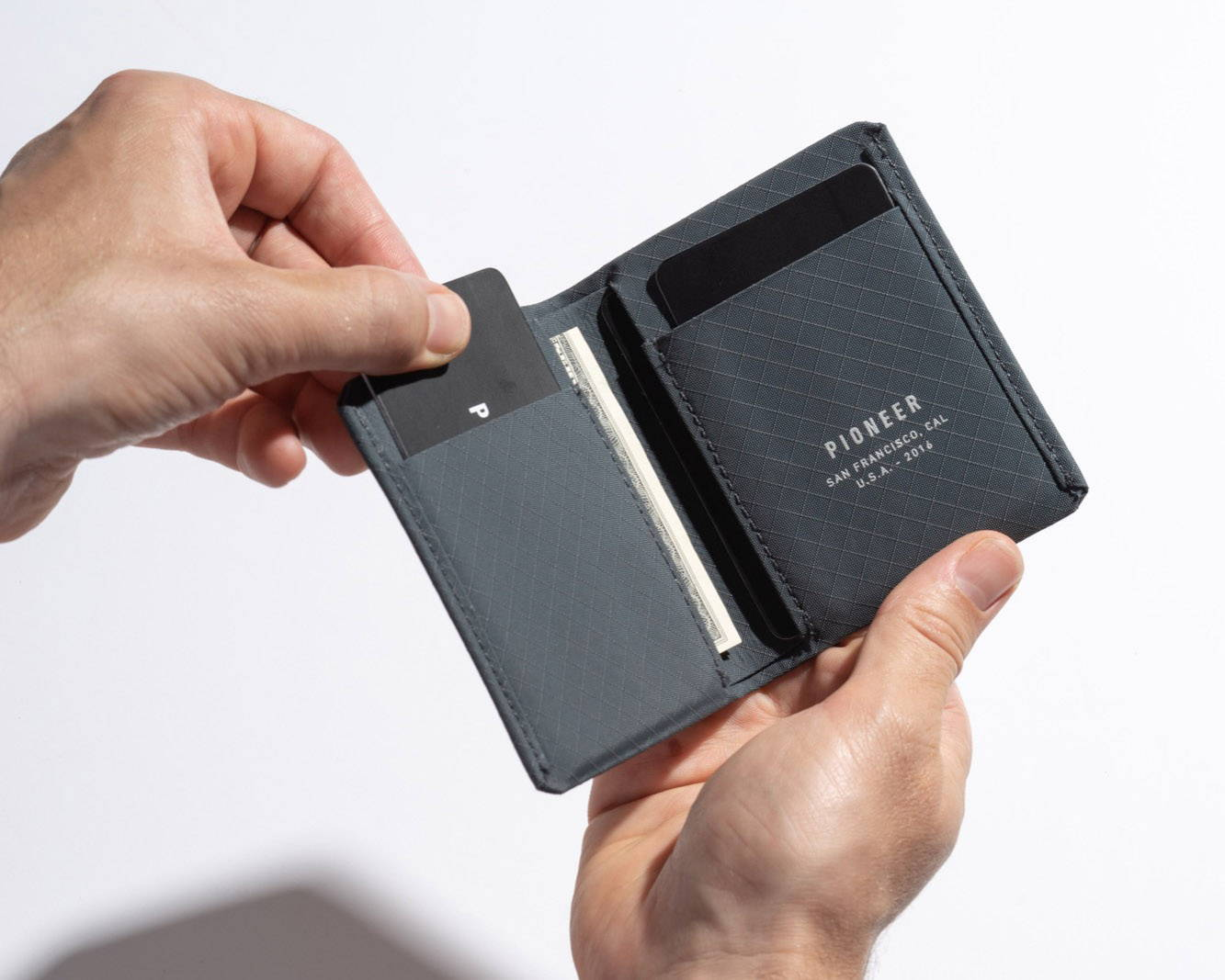 matter bifold slate open with hands