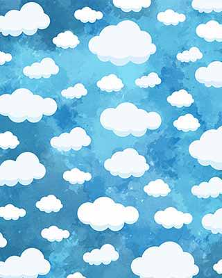 clouds pop art background