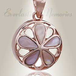 Rose Gold Blooms Cremation Ash Jewelry