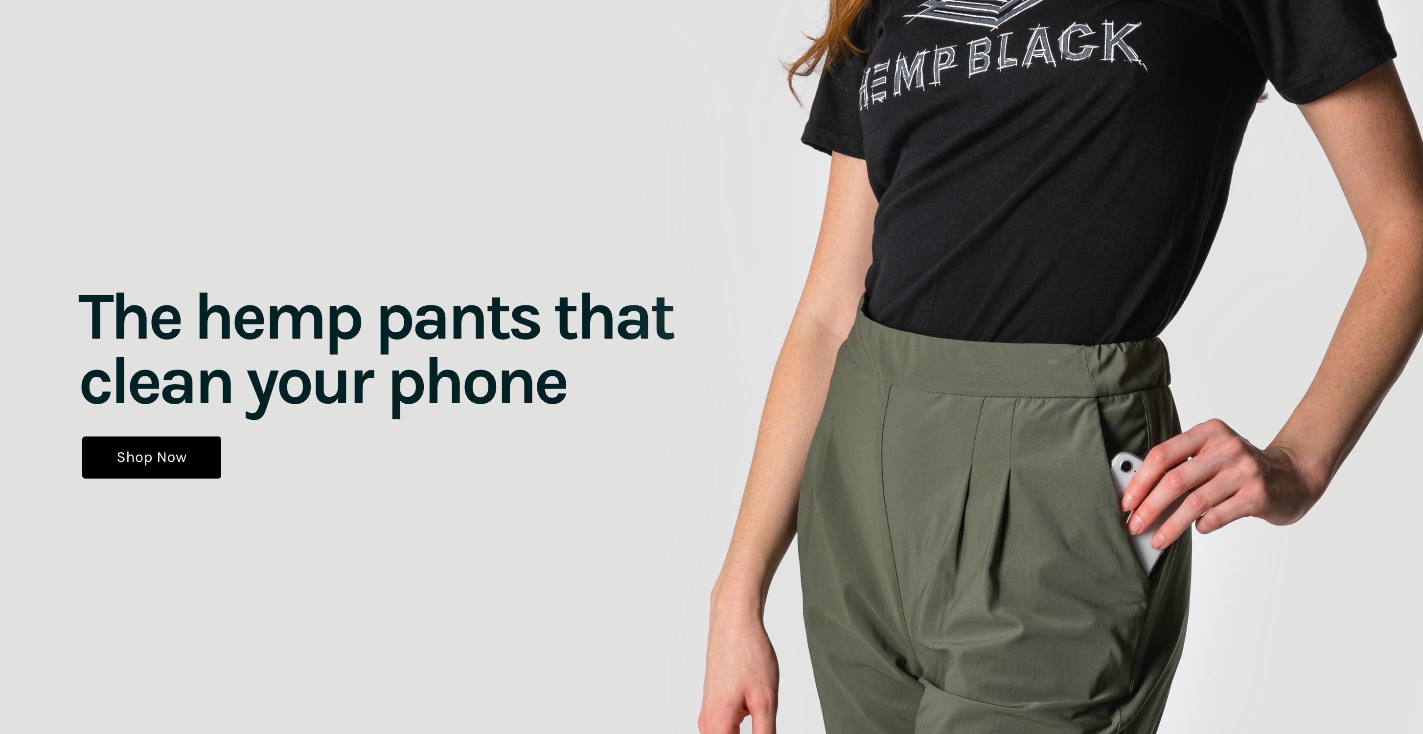Hemp Black Self Cleaning Pants
