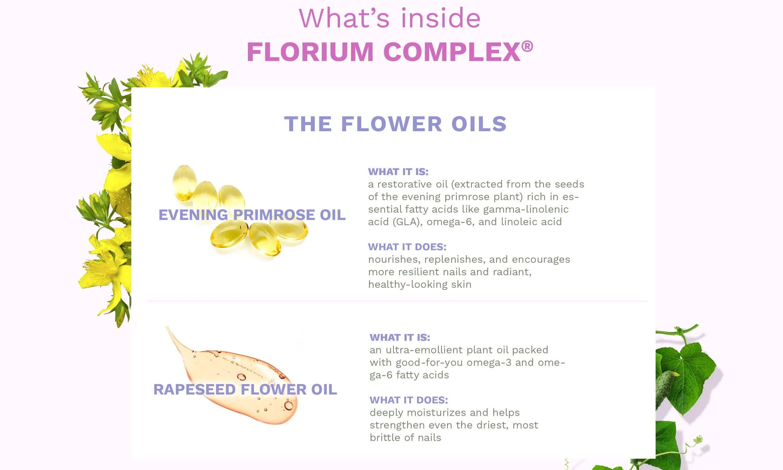 What's Inside Florium Complex - The Flower Oils
