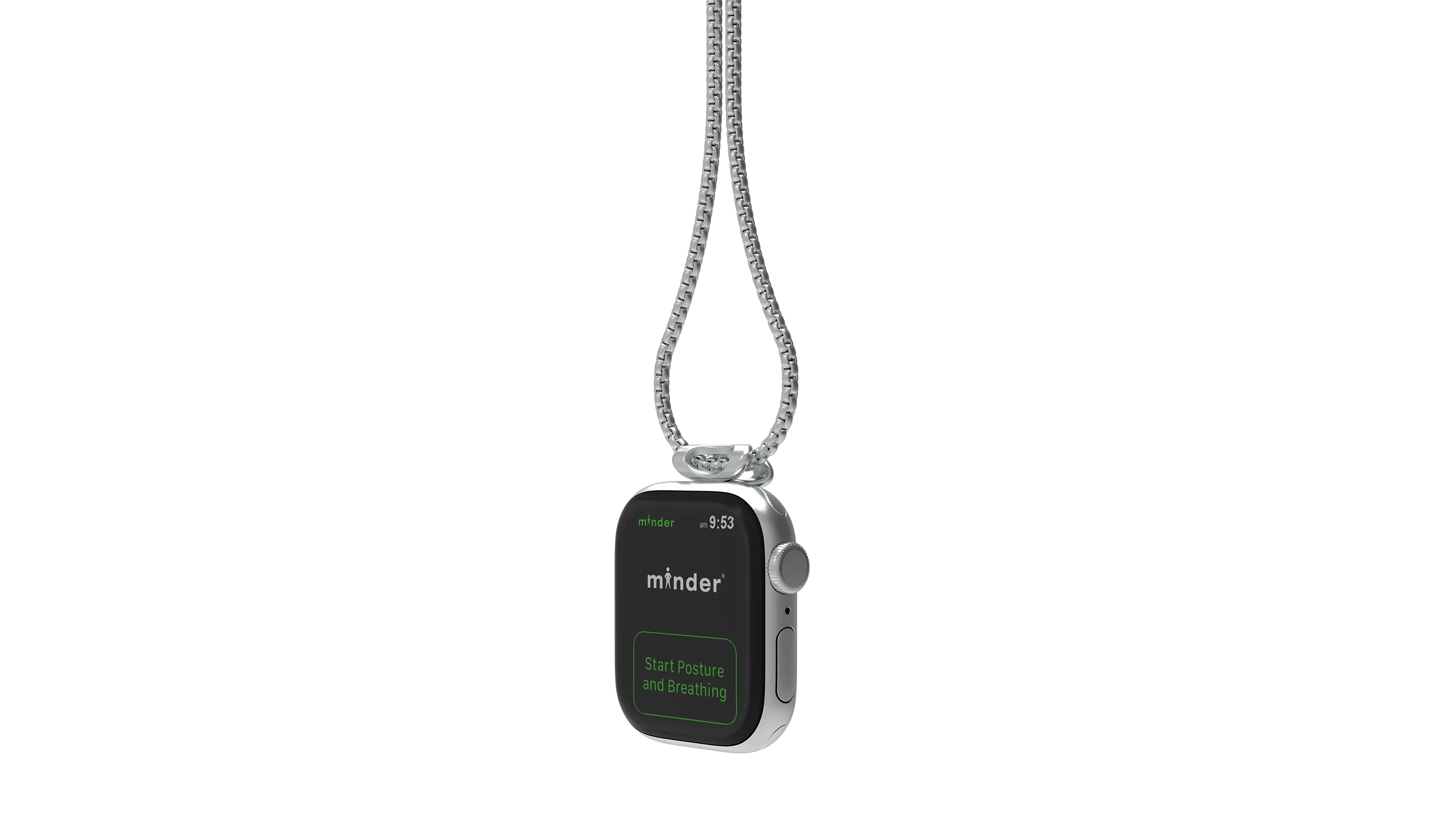 minder necklace with Apple Watch