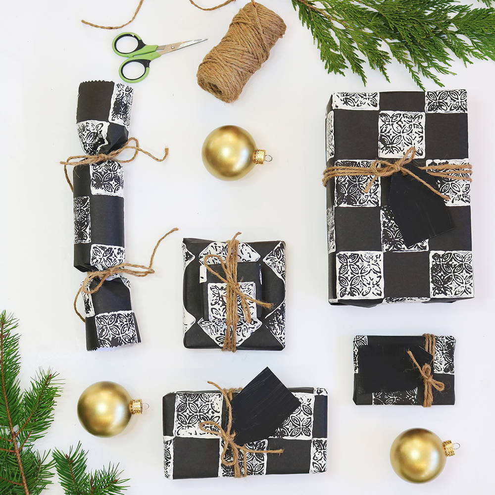 Jolie Paint Holiday Wrapping Paper Project Inspiration