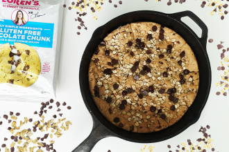 Gluten Free Chocolate Chunk Cookie Dough Skillet Recipe