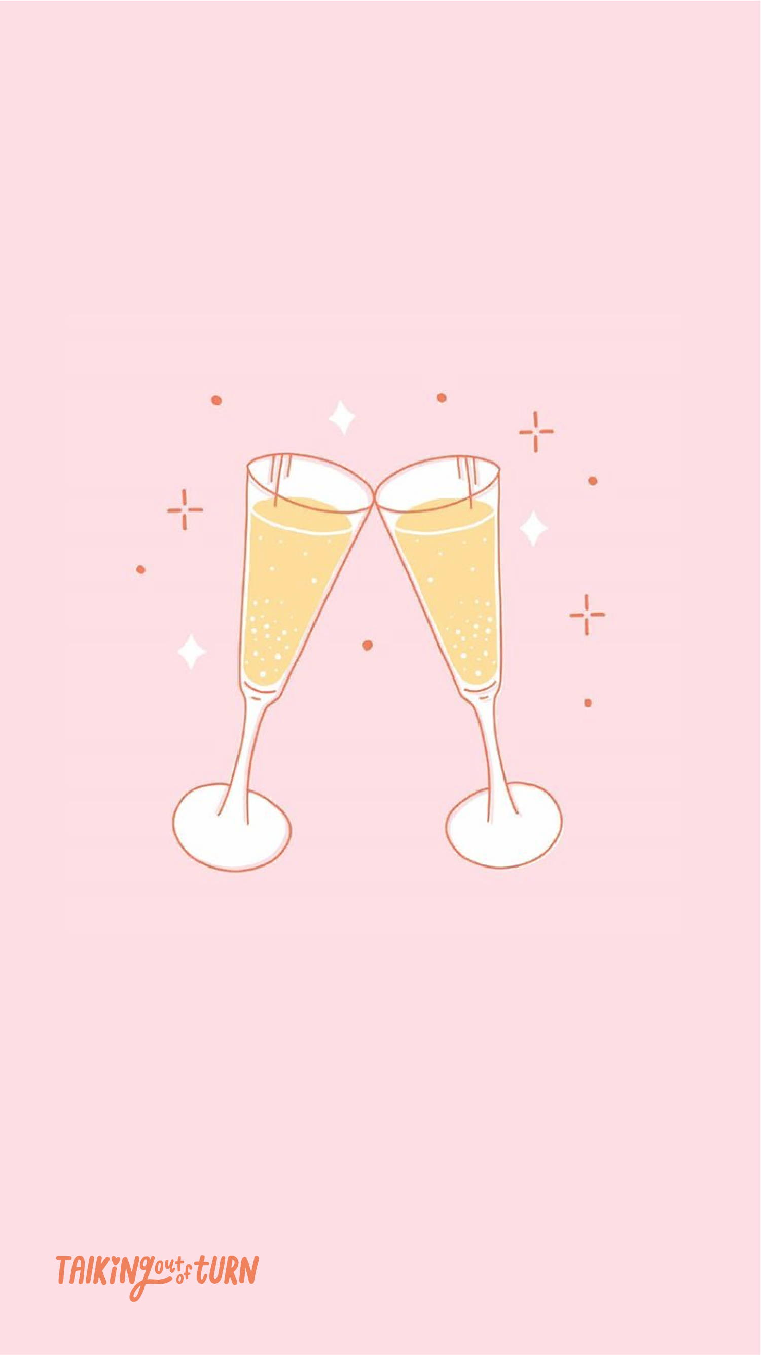 Free phone wallpaper of two champagne flutes cheers.