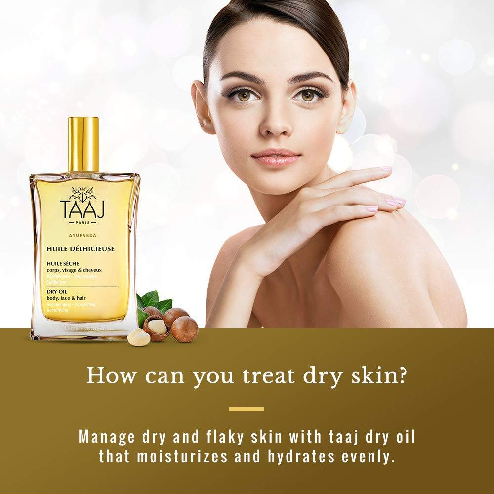 Treat dry skin with dry oil