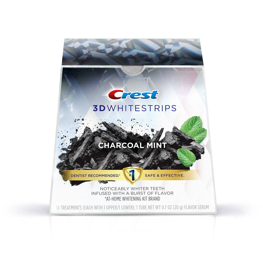 Charcoal Mint Teeth Whitening Strips Crest White Smile