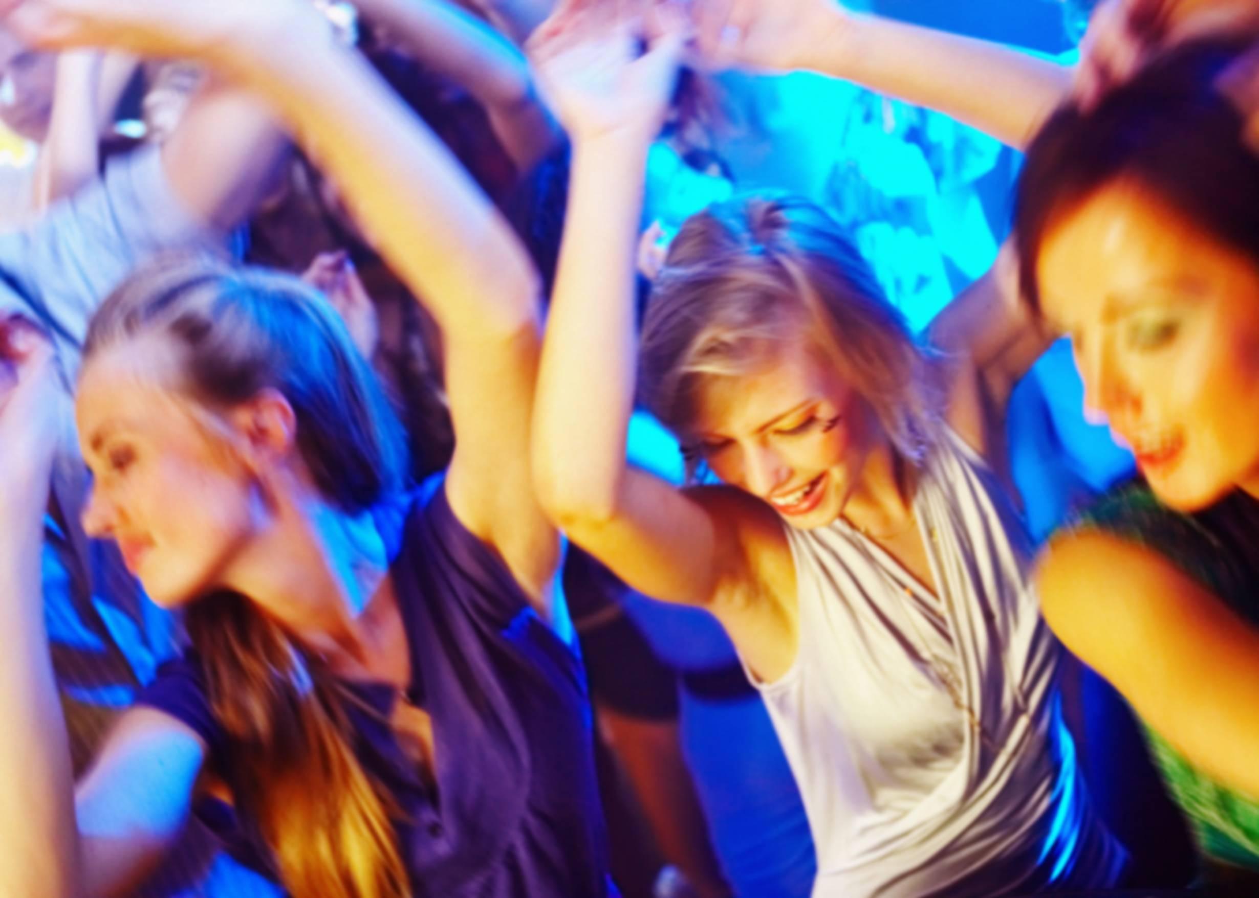 Women dancing in a club