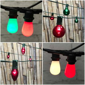 Christmas String Lights with Bulbs