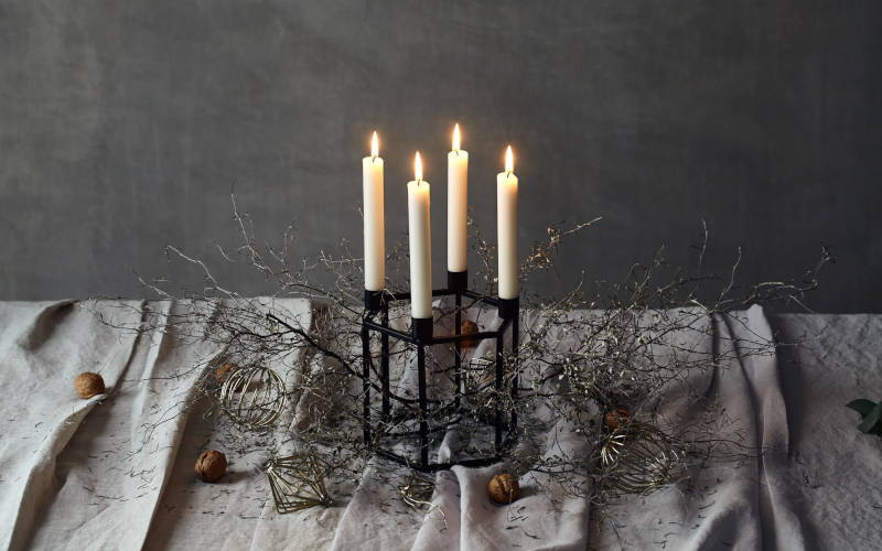 Adventskranz Tischdeko Weihnachten DIY