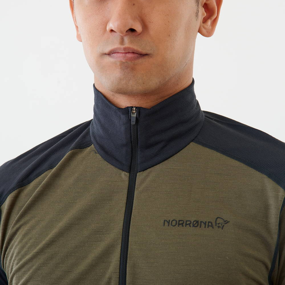 NORRONA(ノローナ)/イコライザー メリノジップネック/カーキ/MENS