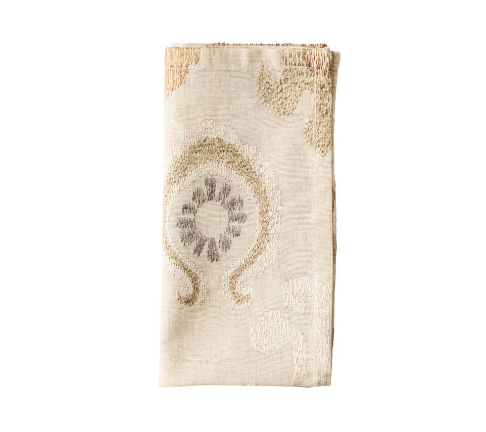MARRAKECH NAPKIN IN NATURAL, IVORY & GOLD