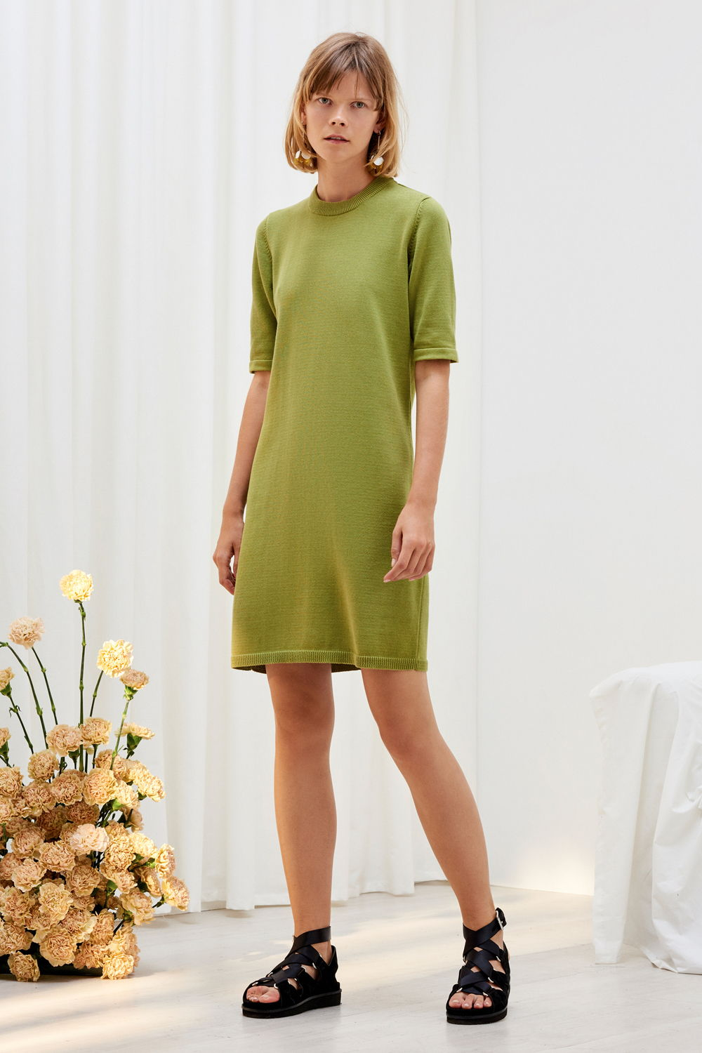 Gingko Organic Cotton Knitted Tee Dress - Kowtow | Ecoture