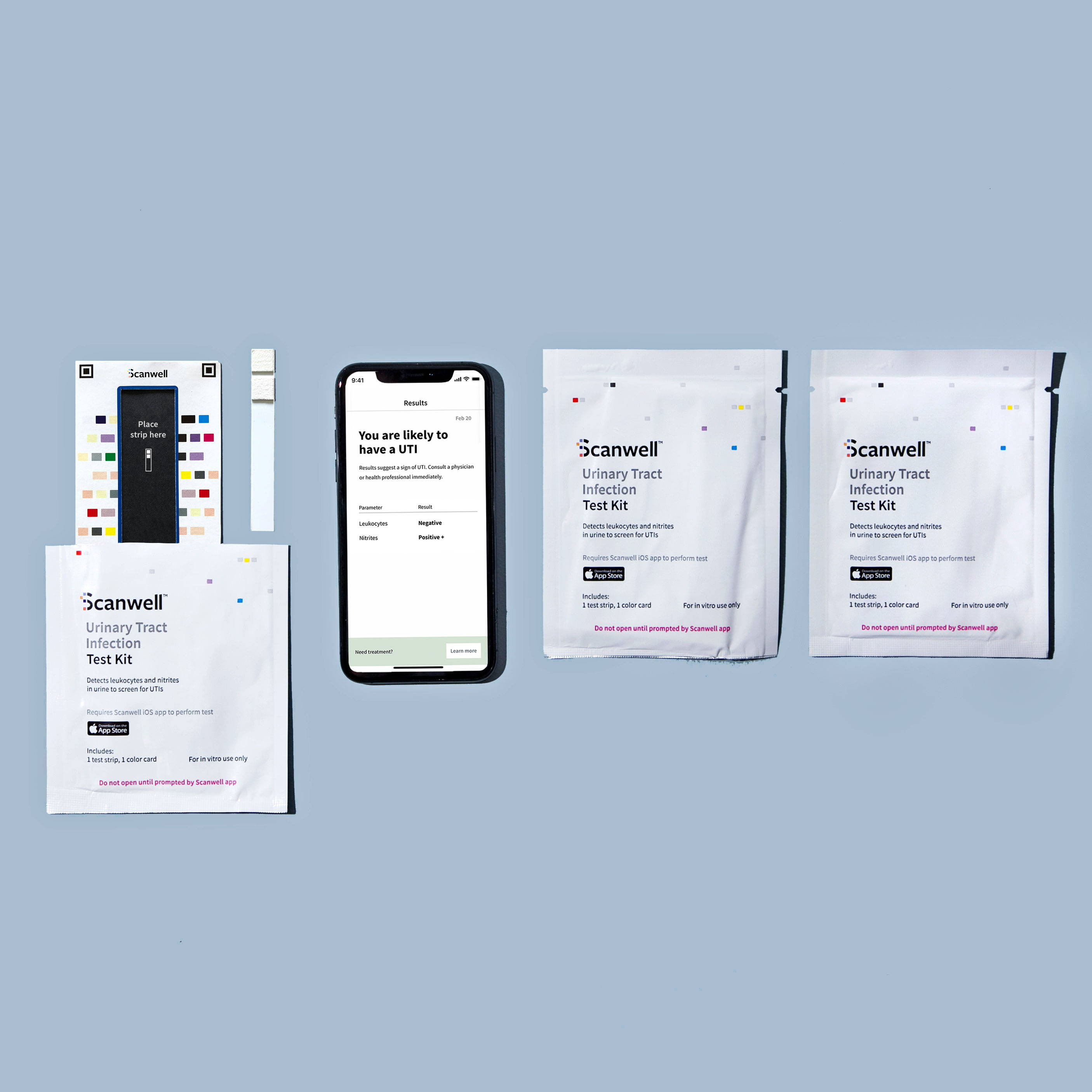 Scanwell UTI Test Kits and app