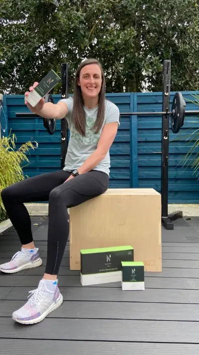Hannah Tyrell of Irish Rugby working with Nuasan Active Skin & Bodycare which is natural skin and bodycare for sports and active people. Trusted by athletes, loved by everyone.
