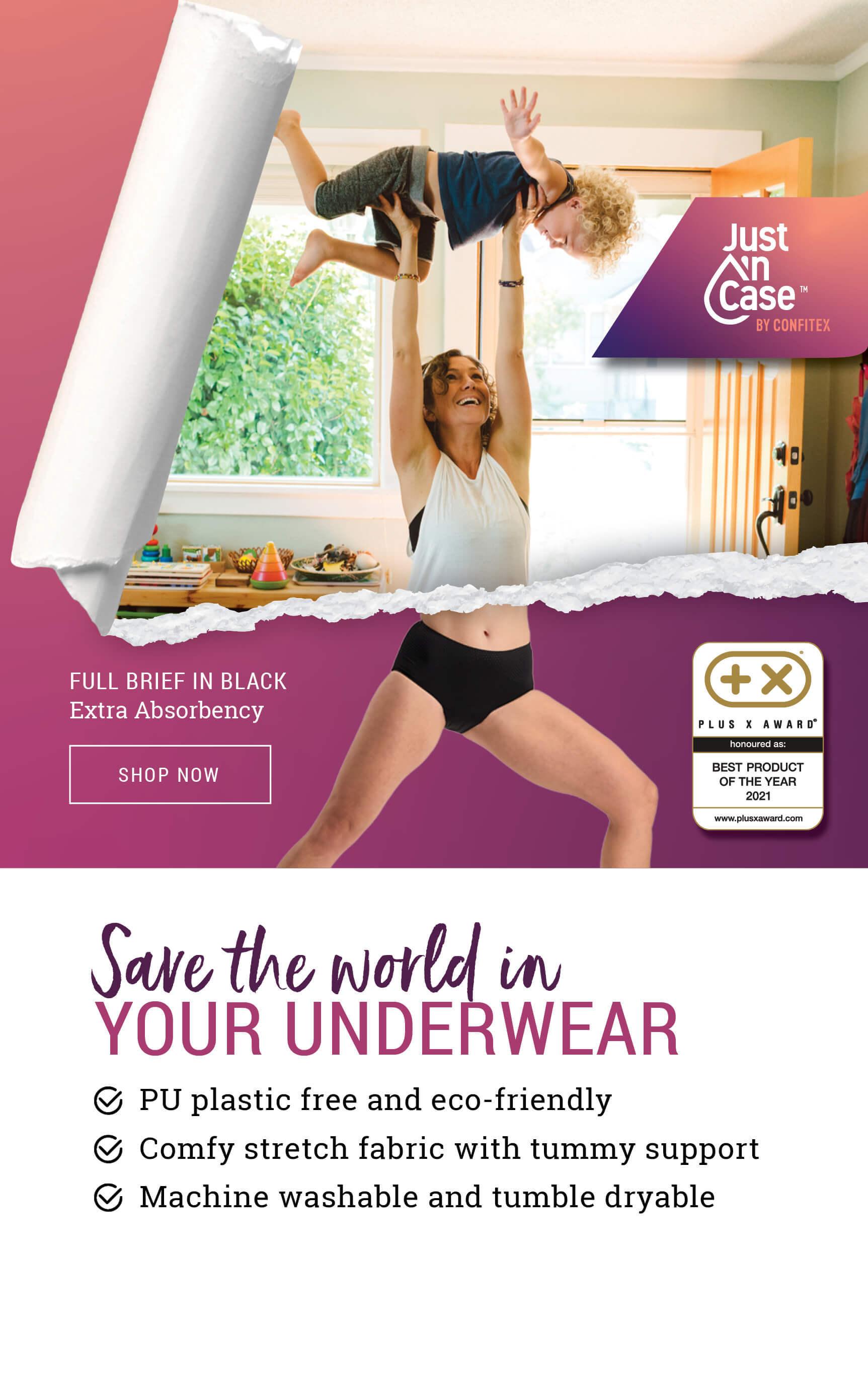 Most absorbent washable period underwear