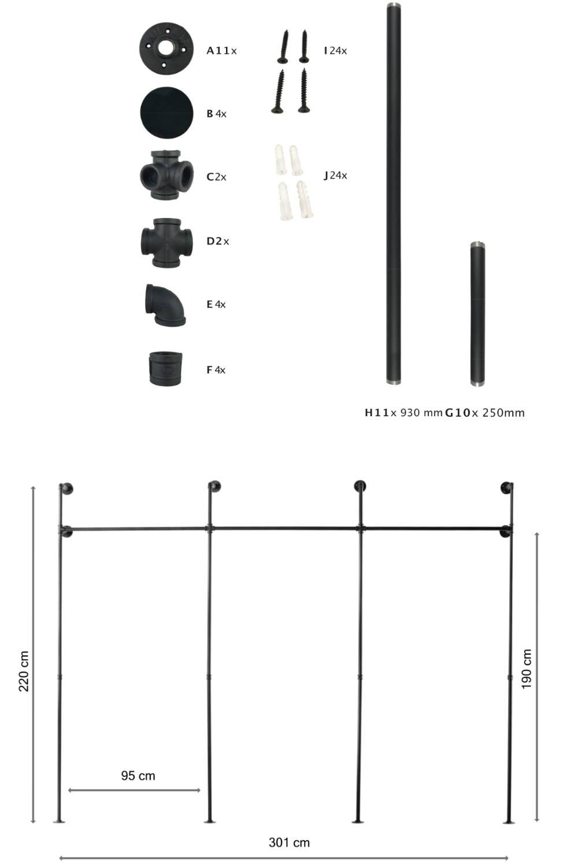 Benötigte Werkzeuge zum Bau der Kleiderstange KIM III