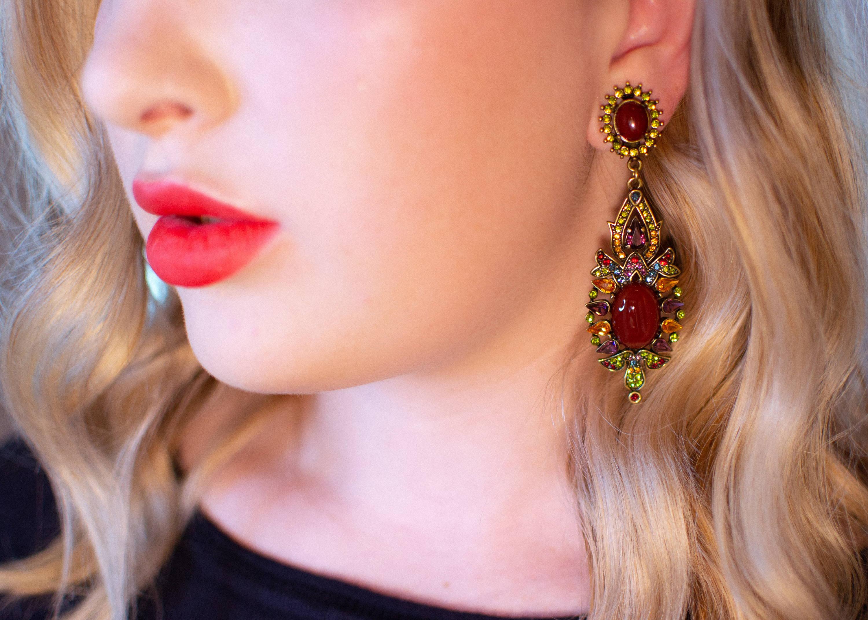 Vintage Heidi Daus Chandelier Earrings