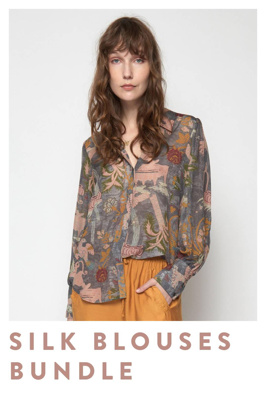 silk blouses bundle