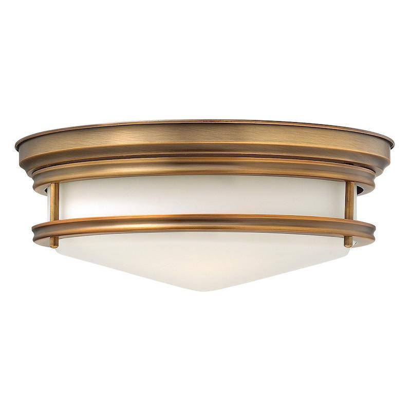 brass flush lights