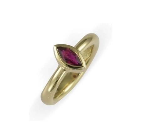 18ct Marquise ruby ring Jens Hansen