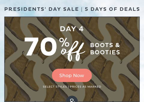 70% Off Boots & Booties