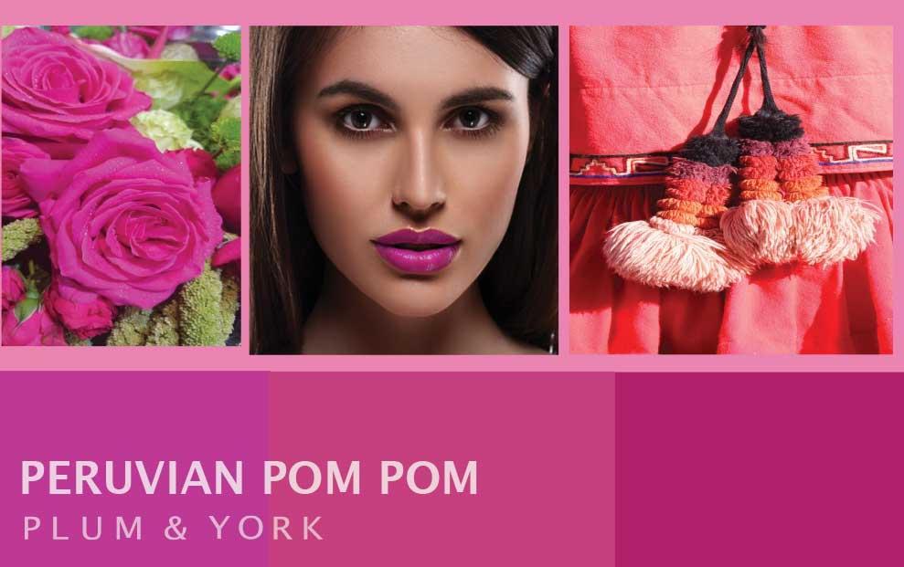 Peruvian Pom Pom lipstick by Plum & York