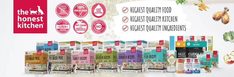 the honest kitchen dehydrated dog food & treats and cat food & treats collection