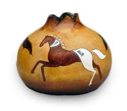 Create Southwest Horse Gourd Art by Krystal Garrido