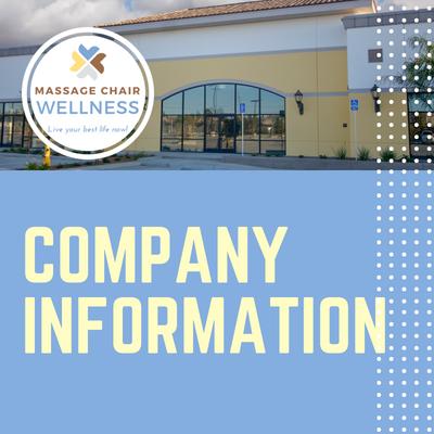 Massage Chair Wellness   Company Information 2018