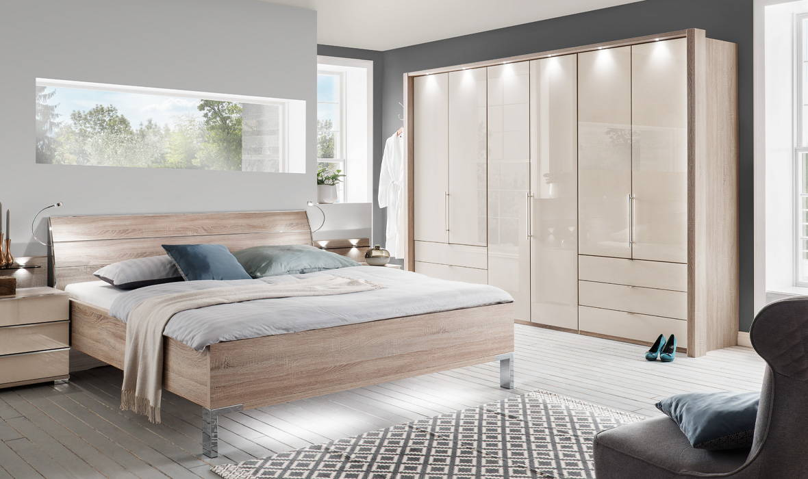 Stylish bedroom storage