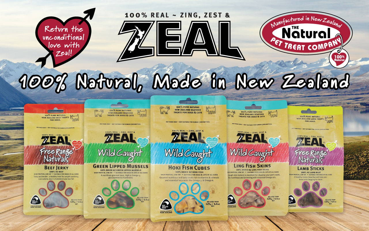 zeal natural pet food and treats mobile banner