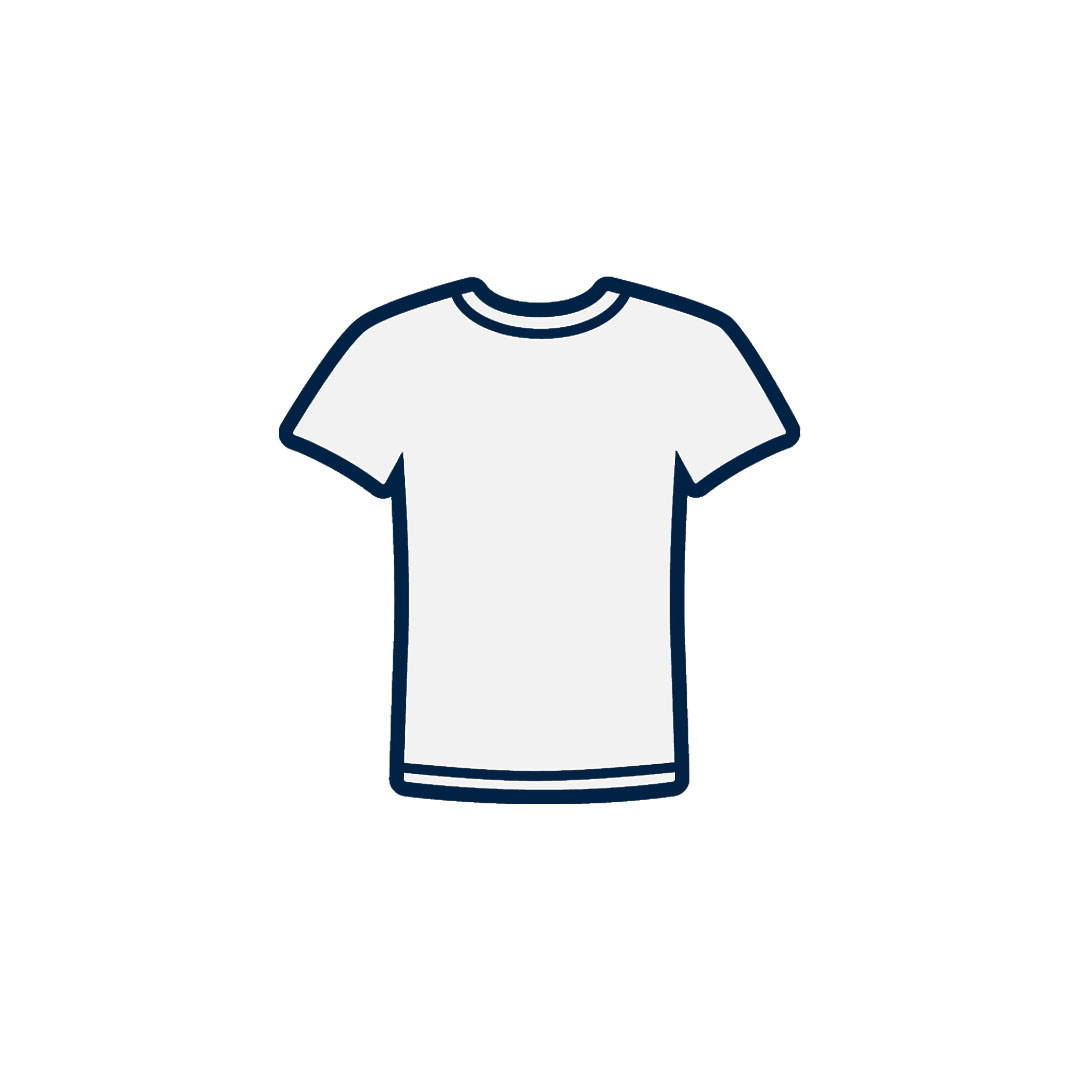 According to the Skin Cancer Foundation, a white T-shirt offers the equivalent of approximately UPF 5 rating. Cabana Life's UPF 50+ clothing blocks 98% of UVA + UVB rays.