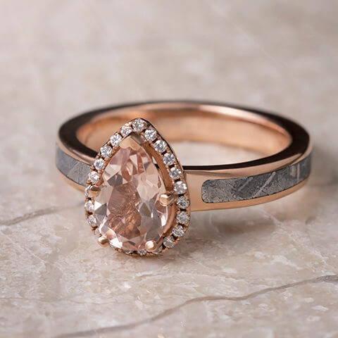 Pear Morganite Engagement Ring