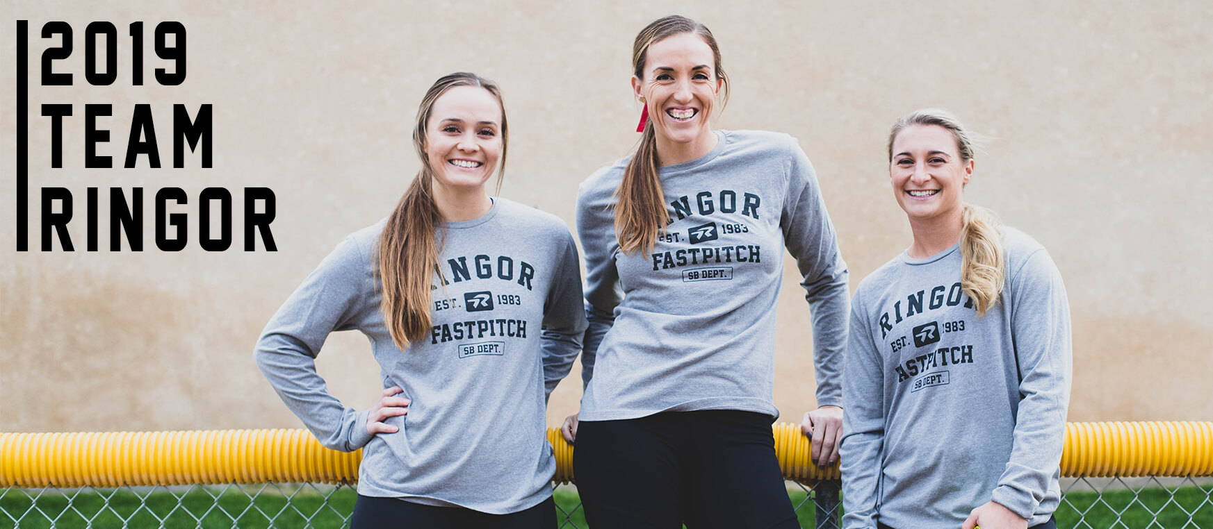 Team Ringor 2019, Ali Aguilar, Monica Abbott, Kirsti Merritt and Courtney Gano.